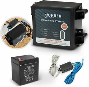 Bunker Indust Trailer Brakes Breakaway Kit With Charger Switch 12v 5ah Battery