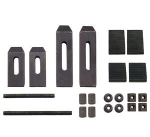 24 Piece Clamping Kit For Small Milling Machines With 305 Table Slots