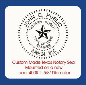 Texas Notary Round Seal custom Made Standard Stamp With Handle