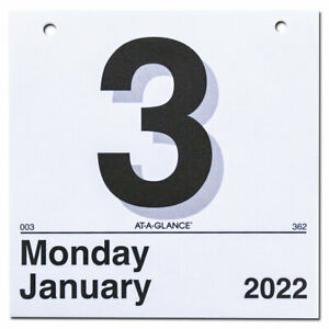 2022 At a glance K1 50 Today Is Tear Off Wall Calendar Refill 6 X 6