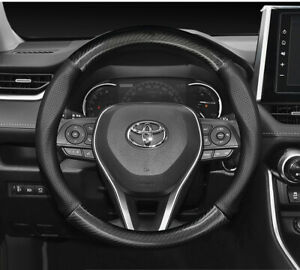 For Toyota 38mm Steering Wheel Cover Leather Carbon Style Corolla Scion Xb Xa