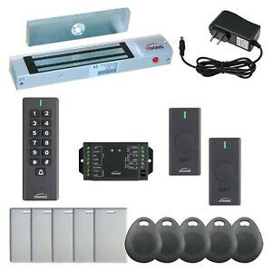 Visionis Fpc 6343 300lbs Outswing Maglock Wireless Keypad And Exit Buttons