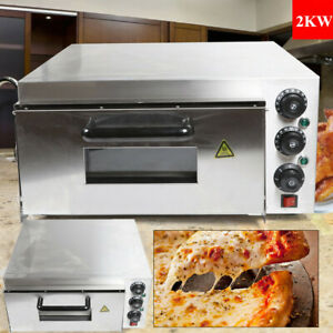 Stainless Steel 2000w Commercial Electric Pizza Oven Cake Bread Pizza Maker 110v
