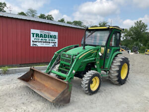 2010 John Deere 4520 4x4 50hp Compact Tractor W Cab Loader Clean Only 2400hrs