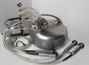 American Made Milking Machine Surge cow goat sheep Vacuum Pump Complete System