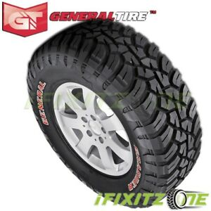 1 General Grabber X3 35x12 50r18lt 123q 10 Ply Red Letter Jeep Truck Mud Tires