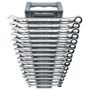 X Large Ratcheting Combination Metric Wrench Set 16 Piece