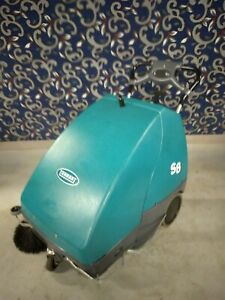 Tennant S8 Battery powered Walk behind Sweeper With New Battery Free Shipping
