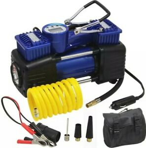 Dual Cylinder Air Compressor Kit Portable Truck High Volume Offroad Inflate Tire
