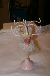 Vintage Mannequin Ballerina 12 H Jewelry Stand Necklace Display Holder Swivels