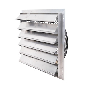 Hessaire 4450 Cfm Power Shutter Mounted Variable Speed Exhaust Fan Wall Mounted