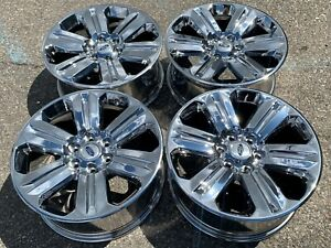 4 Chrome Pvd 20 Ford F150 F 150 Expedition Factory Oem Set Rims Wheels 10171