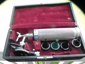 Vintage Welch Allyn Diagnostic Otoscope Ophthalmoscope Set W original Case