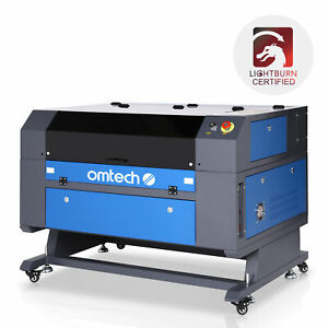 Omtech 60w Ruida Co2 Laser Engraver Cutter With 28 x20 Workbed blue Gray