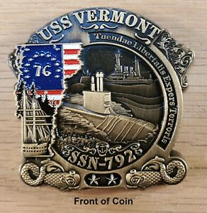 USS Vermont SSN 792 US Navy Submarine Commemorative Challenge Coin 2quot; t 148 $14.99