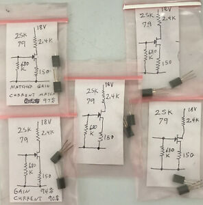 Matched Pair Original Sony V fet Sit Small Signal N channel Transistors