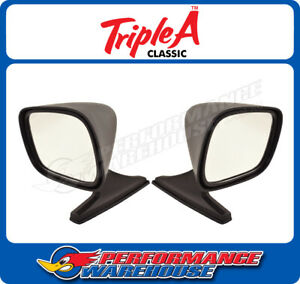 Pair Black Sport Bullet Mirrors Early Model Cars Muscle Cars Cruisers Utes