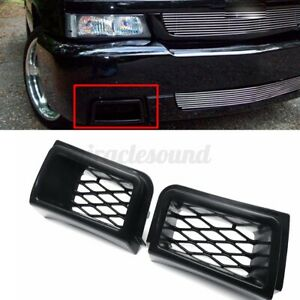 2x Front Bumper Caliper Grille Air Duct Black For Chevy Silverado 1500 2003 2007