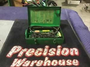 Greenlee Hydraulic Pump 767 Knockout Set 7646 With 3 4 3 Inch Punch And Dies