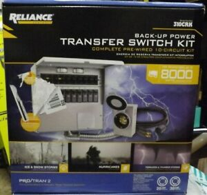 Reliance 310crk Controls 10 Circuit 20 30 Amp Power Transfer Switch Kit New