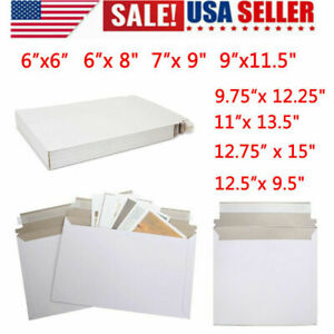 Pack Of 100pc Rigid Mailers Envelopes Bags Shipping Paper Self adhesive Strip Us