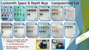 Depth And Space Keys Locksmith Sets All Computerized Cut Free Ship