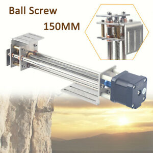 Cnc Z Axis Router Linear Slides Ball Screw 150mm With 4wire Stepper Motor Linear