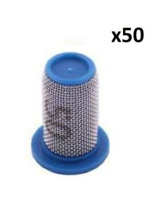 50 Of Teejet Poly Tip Strainer W Stainless Steel 50 Mesh Screen 8079 pp 50