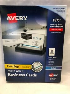 Avery Printable Business Cards Inkjet Printers 1 000 Cards 8870 White 2x 3 5