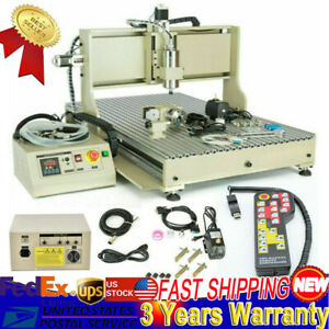 4 Axis Diy Cnc 6090 Router Mini Mill Wood Carving Engraving Milling Machine Usa