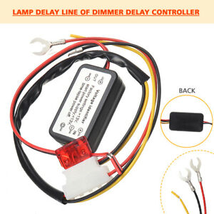 Car Led Drl Daytime Running Light On Off Switch Controller Relay Wire Cable Pro