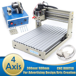 4 Axis 3040 Cnc Router 3d Engraver Pcb Engraving Milling Drilling Machine 400w