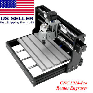 Cnc 3018 Pro Router Kit Engraving Machine 3 Axis Milling Cutter Printer Engraver