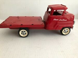 Vintage 1960 s Structo Live Stock Stakebed Truck Red