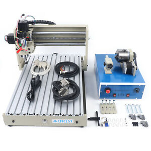 4 Axis 3040t 400w Cnc Router Engraver 3d Engraving Drill Milling Cutter Machine