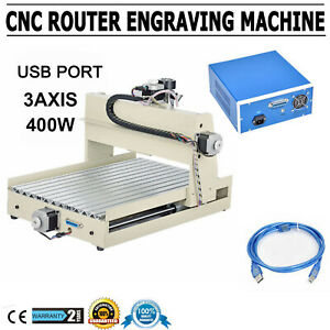 Usb 400w 3 Axis Cnc 3040 Router Engraver Wood Metal 3d Work Drill Cutter Machine