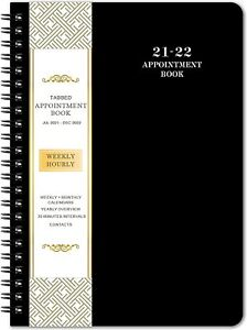 2021 2022 Weekly daily hourly Planner Tabs Appointment Book Organizer Agenda