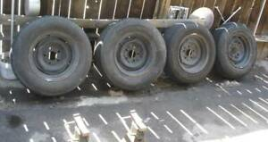 1965 Pontiac Gto Original Rims Hubcaps With Used Tires Local Pick Up Only