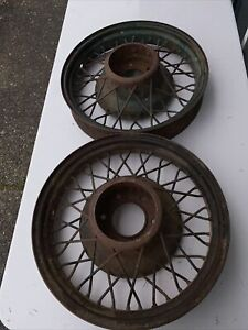 Pair Of 1934 1935 1936 Chevy Wire 6 Lug 17 Wheels