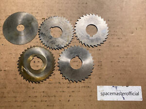 Lot Of 15 3 Slitting Cutter Lot For Milling Machine 1 Hole Assorted Brand