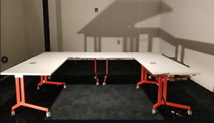 Haworth Planes Training Table never Used 3 Piece Modern Conference Room Table