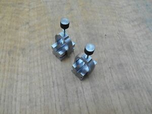 Machinist V Blocks With Clamps 1 1 4 X 1 3 16 X 1 3 4