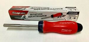 New Snap On Tools Ratcheting Screwdriver American Airlines Red Blue Nib Htf