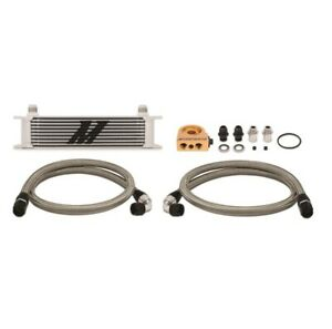 Mishimoto Oil Cooler Kit 10 Row Silver Thermostatic Mmoc Ut