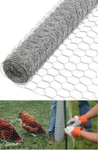 Fence Poultry Net Steel 24in X 150ft Galvanized Mesh Chicken Wire Animal Netting
