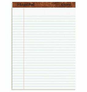 12 Ct Writing Pads Legal Ruled 8 5 X 11 75 White Lined 50 Sheets Per Notepad