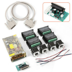 Cnc Set 4 Axis Breakout Board Dm432 Stepper Motor For Diy Router mill plasma