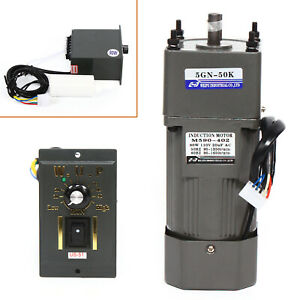 110v 90w Ac Gear Motor Electric variable Speed Reduction Controller 0 27rpm 1 50