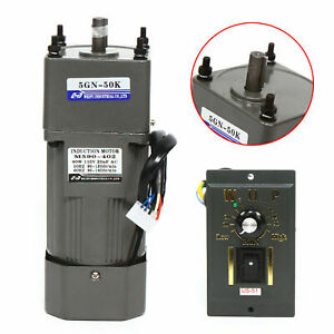 110v 90w 1 50 Ac Gear Motor Electric Variable Speed Reduction Controller 27rpm