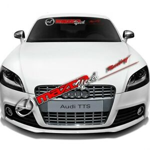 Car Front Windshield Window Decorative Sticker Decal Fit For Racing Mazda Auto